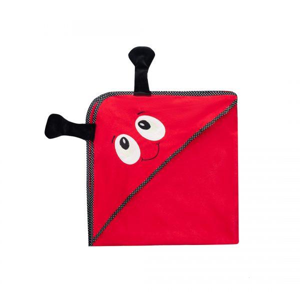 TOALLA 3D MAGICA Bebé Vaquita de san antonio roja