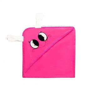 TOALLA 3D MAGICA Bebé Vaquita de san antonio rosa